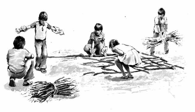 Niño Tirando Basura En El Piso Para Colorear